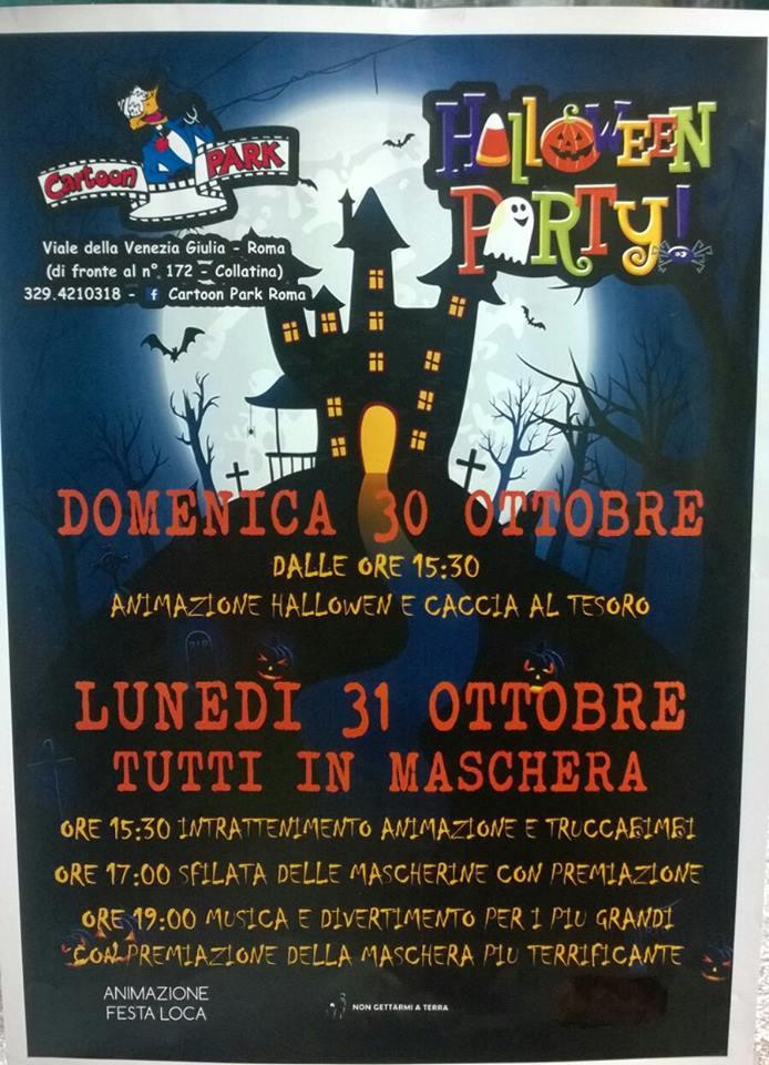 Festa Di Halloween A Roma.Cartoon Park Roma