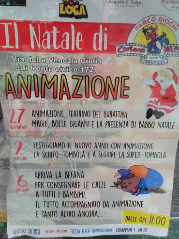 Al Cartoon Park Roma arriva il Natale!