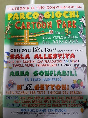 Feste e compleanni al Cartoon Park Roma