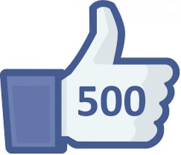 """500 """"mi piace"""" su facebook!"""